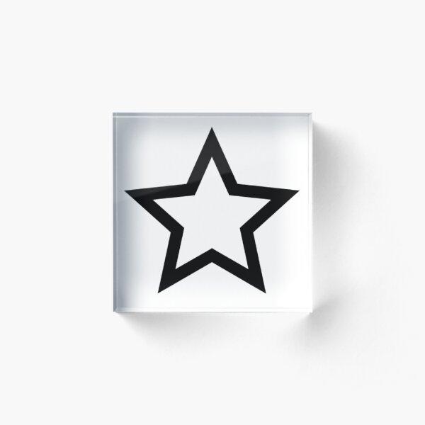#Star #Symbol  #Sign Acrylic Block