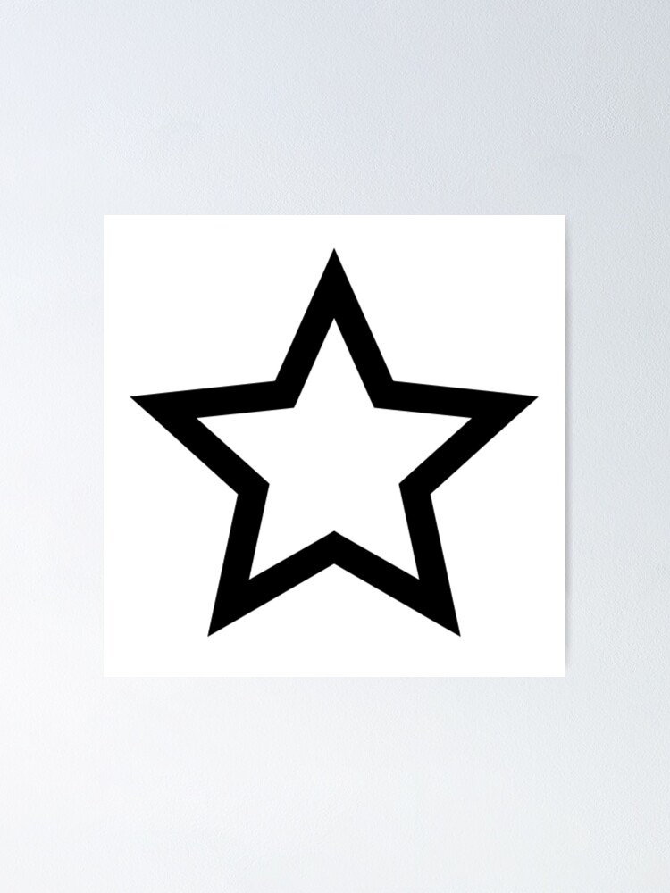 Alternate view of #Star #Symbol  #Sign Poster