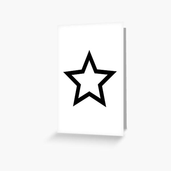 #Star #Symbol  #Sign Greeting Card