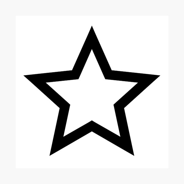 #Star #Symbol  #Sign Photographic Print