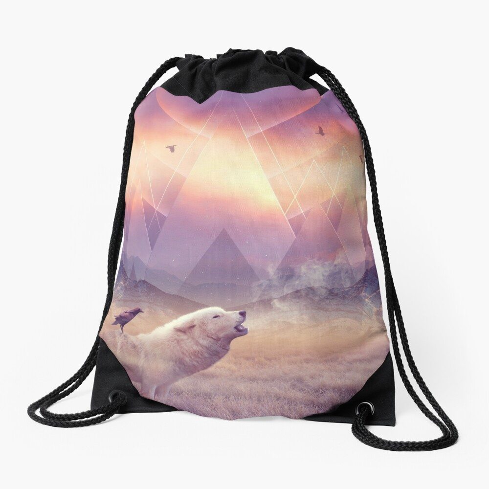 In Search of Solace Drawstring Bag