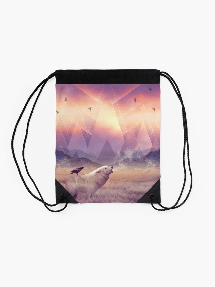 Alternate view of In Search of Solace Drawstring Bag