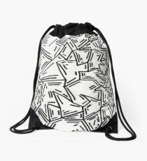 Crumpled Dashes Drawstring Bag