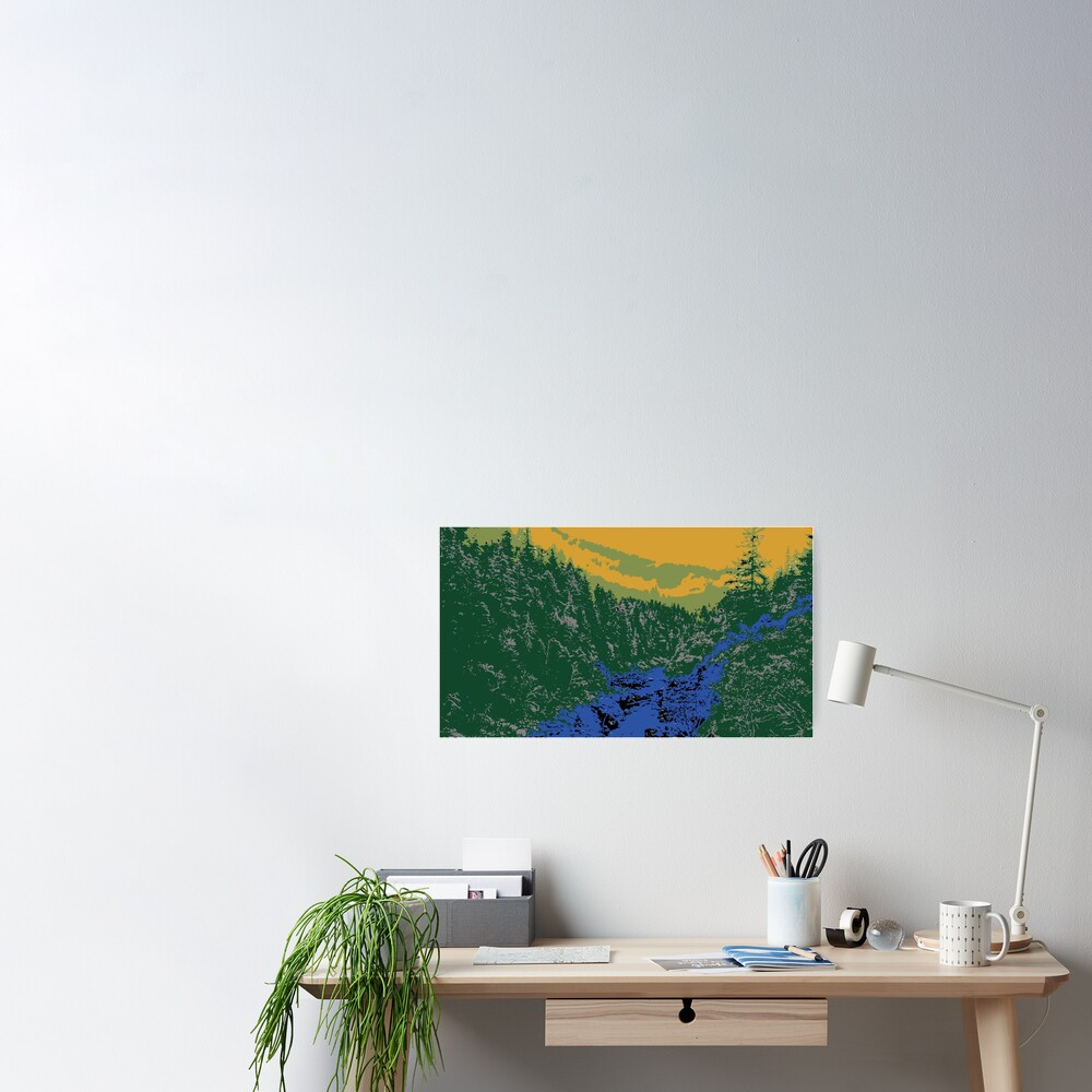 Abstract Mountain Scenery Poster