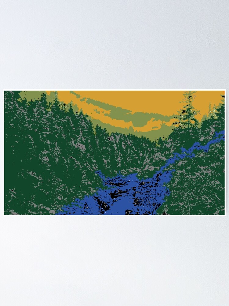 Alternate view of Abstract Mountain Scenery Poster