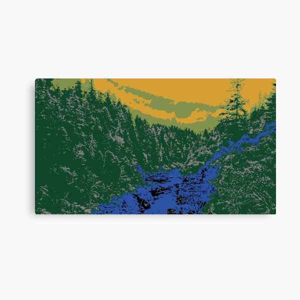 Abstract Mountain Scenery Canvas Print