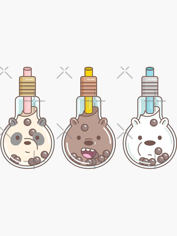 The Bear Bubble Tea, We Bare Bears Fan Art  by Miri-Noristudio