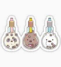 The Bear Bubble Tea, We Bare Bears Fan Art  Sticker