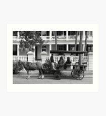 Carriage Ride - Black and White Series Art Print