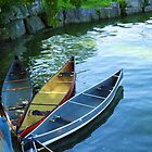 Tranquil Summer's Afternoon: Canoes by KnutsonKr8tions