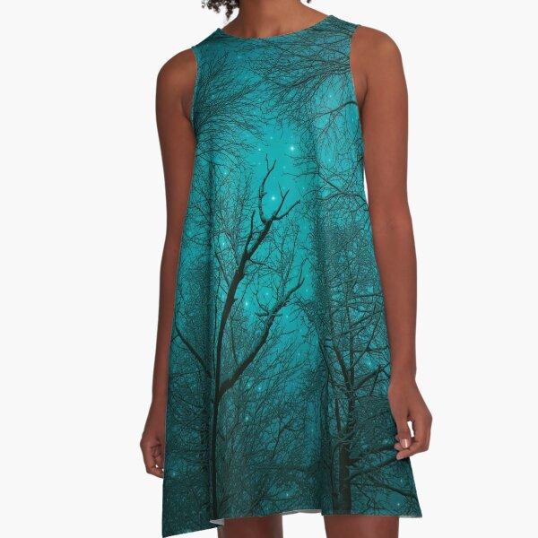 Simply Stare Upward A-Line Dress