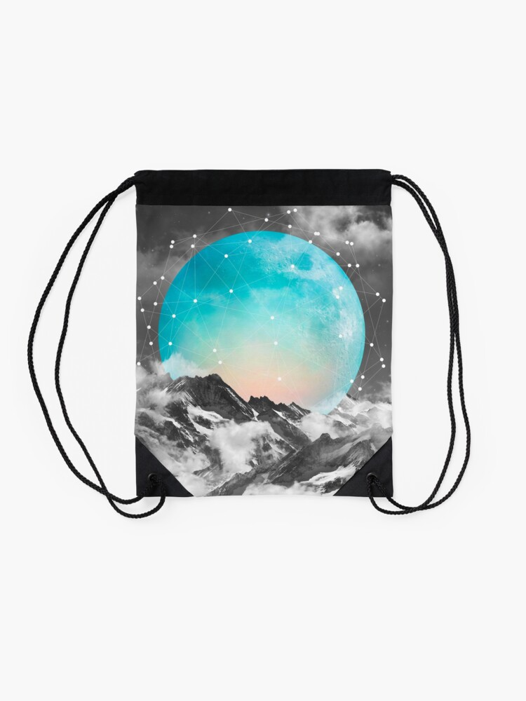 Alternate view of It Seemed To Chase the Darkness Away Drawstring Bag