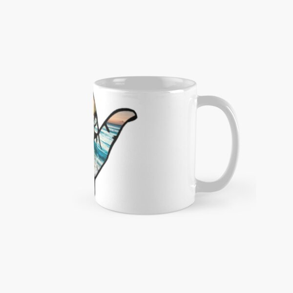 Shaka beach background Classic Mug