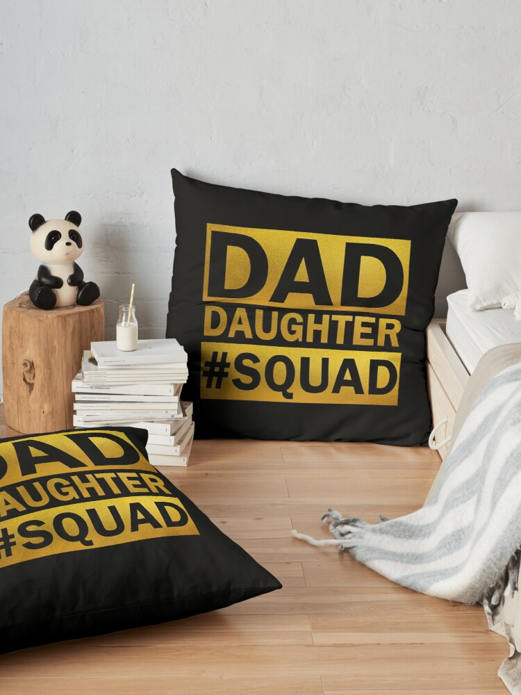 Alternate view of Dad Daughter Squad Floor Pillow