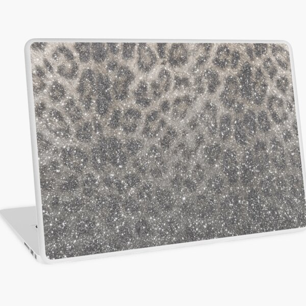 Shimmer (Snow Leopard Glitter Abstract) Laptop Skin