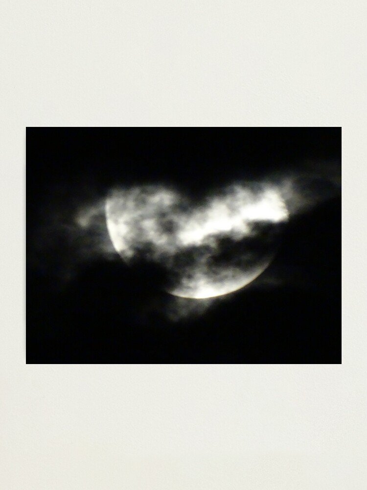 Alternate view of Moon, The moon, Full moon  Photographic Print