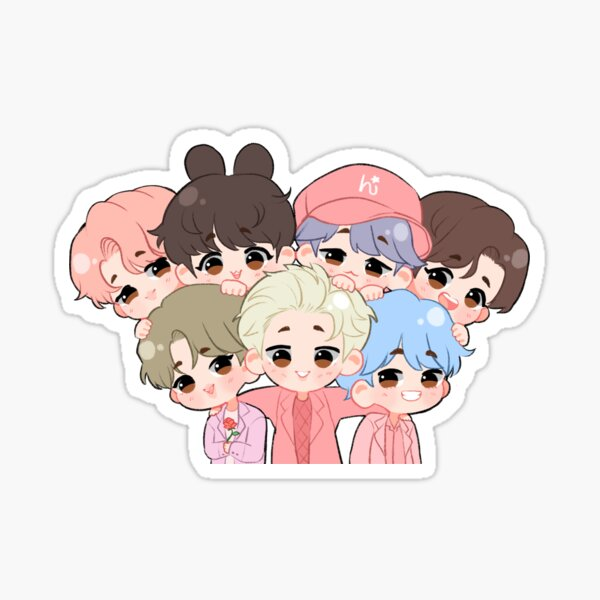 Bts Chibi Stickers Redbubble
