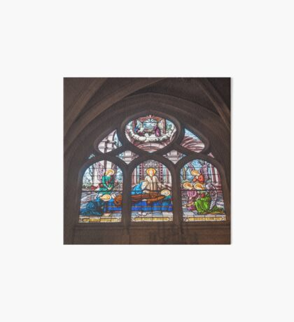 In Homage of the Notre-Dame Cathedral in Paris - LOVE wins in the end! Art Board Print