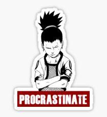 Procrastinate shikamaru Sticker