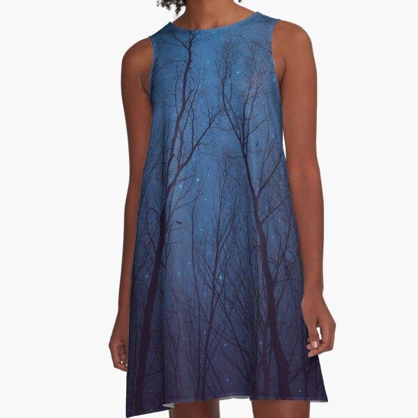 Ich habe die Sterne zu sehr geliebt A-Linien Kleid