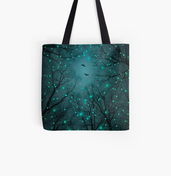 Silently, One by One, the Stars Blossomed All Over Print Tote Bag