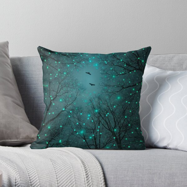 Silently, One by One, the Stars Blossomed Throw Pillow