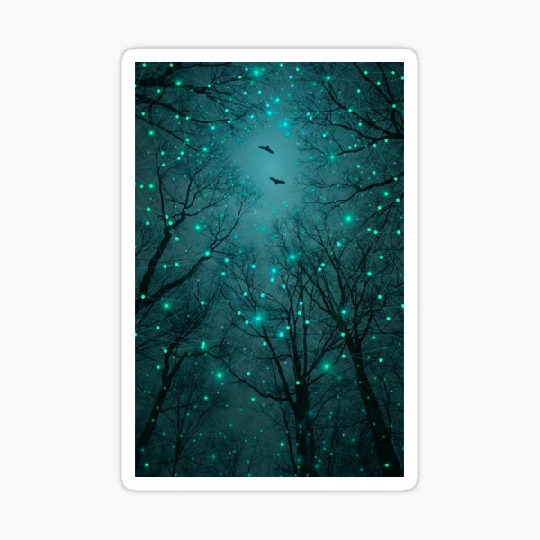 Silently, One by One, the Stars Blossomed Sticker