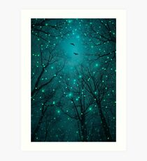 Silently, One by One, the Stars Blossomed Art Print