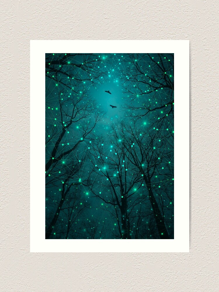 Alternate view of Silently, One by One, the Stars Blossomed Art Print