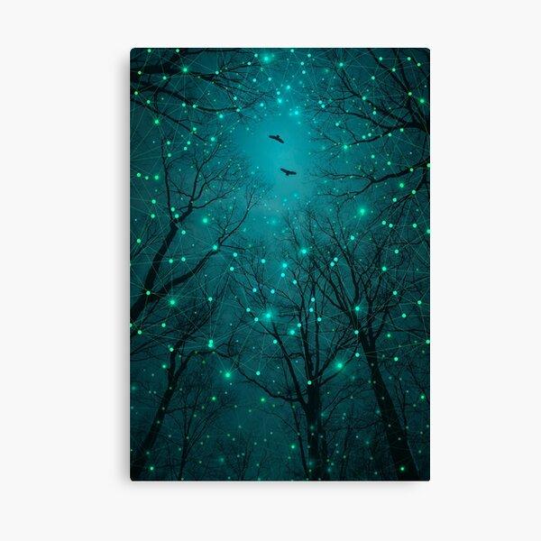 En silence, une à une, les étoiles s'épanouissent Impression sur toile