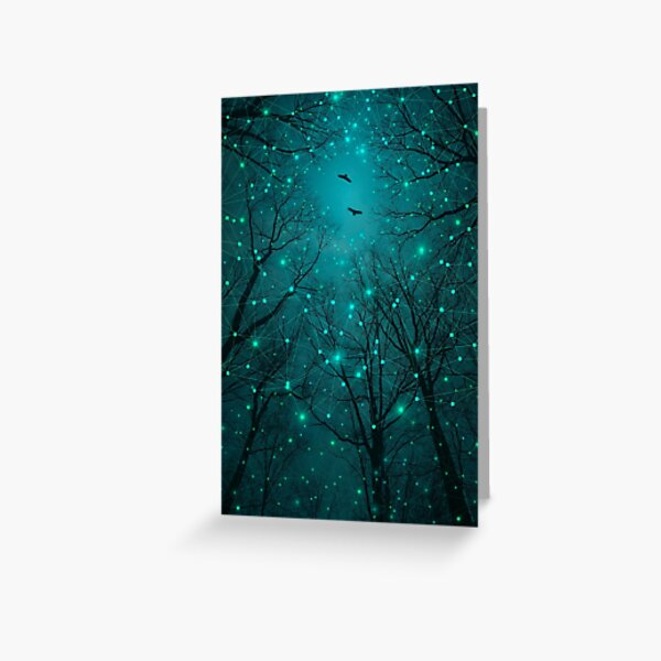 Silently, One by One, the Stars Blossomed Greeting Card