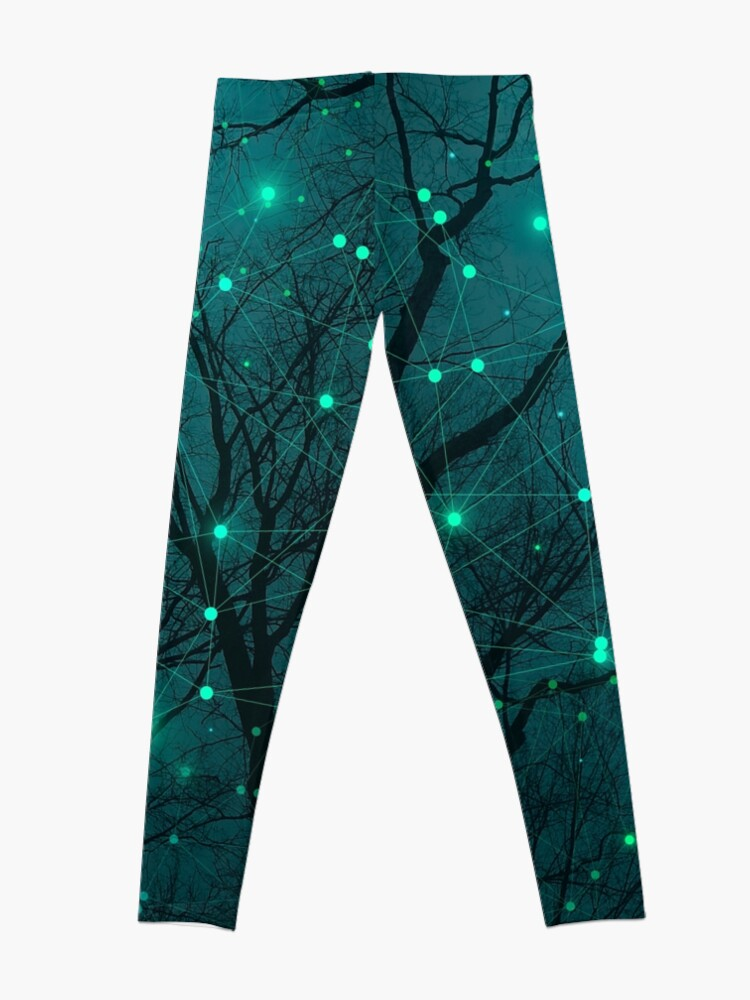 Alternate view of Silently, One by One, the Stars Blossomed Leggings
