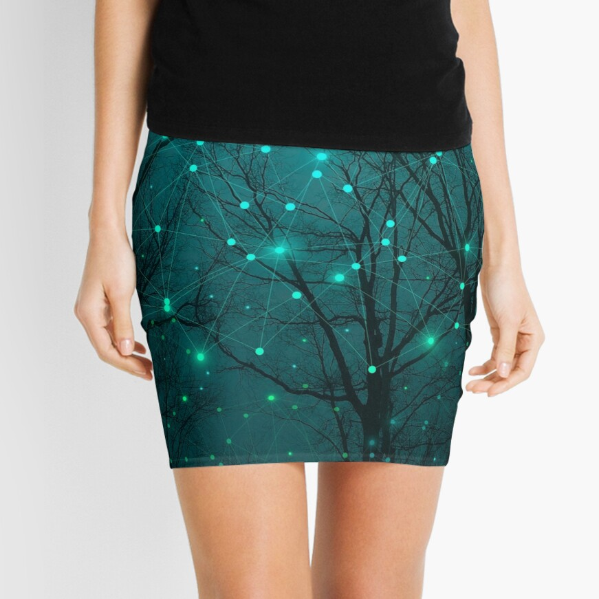 Silently, One by One, the Stars Blossomed Mini Skirt