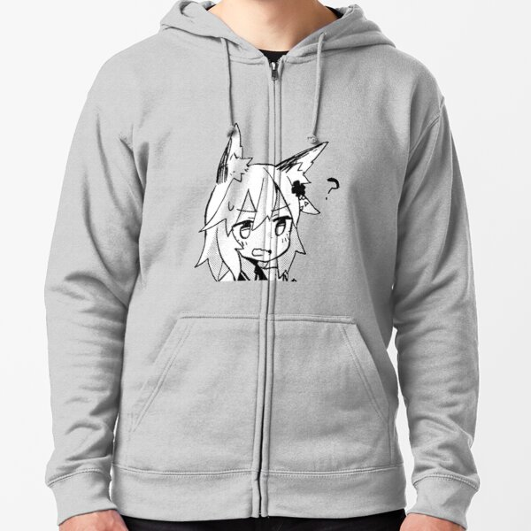 Senko-san Confused Design Zipped Hoodie