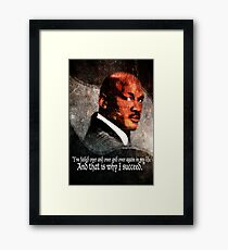 Michael Jordan Vector and Quote Framed Print