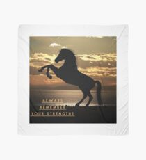 "Horse Shirt, Neighs in the Sunset, ""Always remember your strengths"" Scarf"