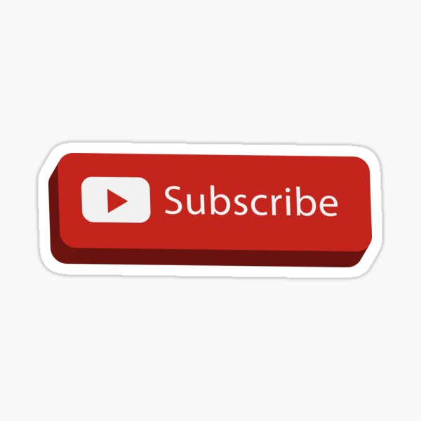 Supreme Style YouTube Subscribe Button Art Sticker