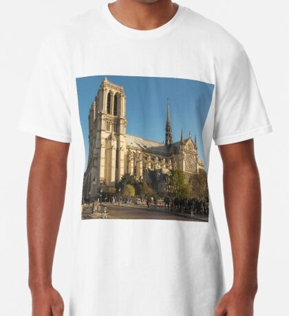 In Homage of the Notre-Dame Cathedral in Paris - LOVE wins in the end! Long T-Shirt