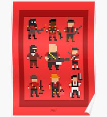 Team Fortress 2 8-Bit Rotes Team Poster
