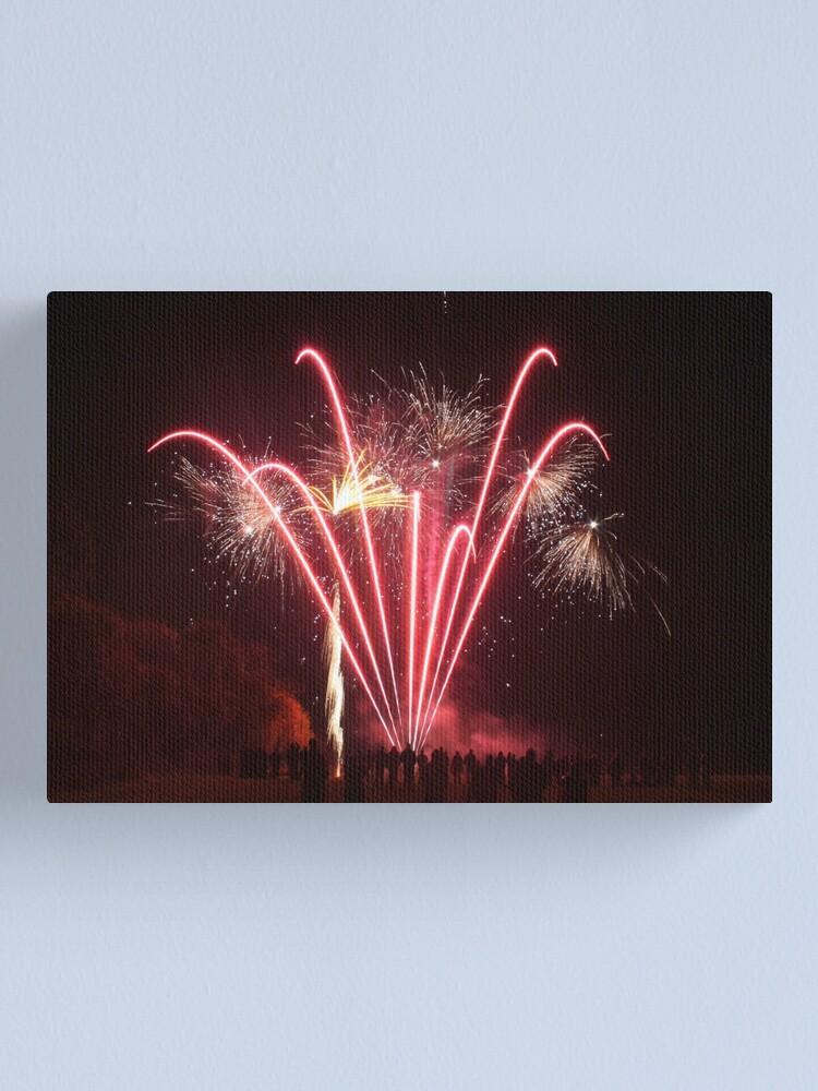 Alternate view of Firework Display Canvas Print