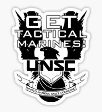 HALO - Get Tactical Marines! - UNSC Sticker
