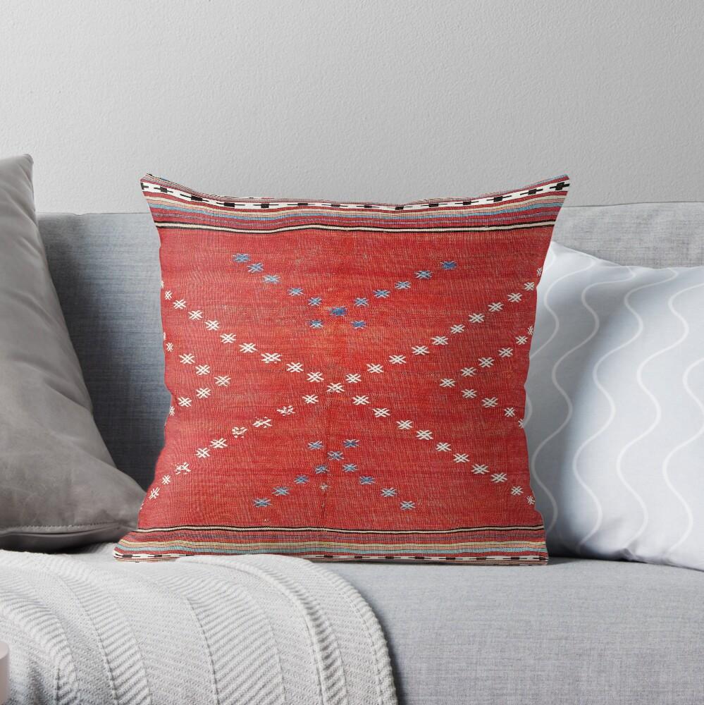 Fethiye Southwest Anatolian Camel Cover Print Throw Pillow