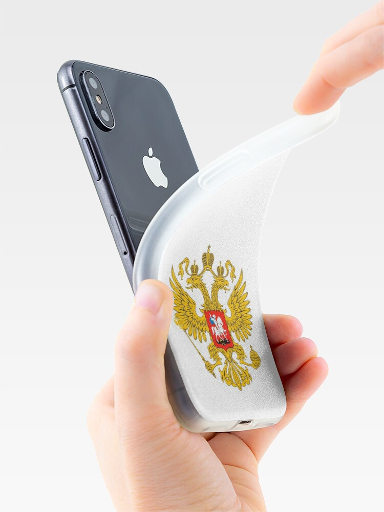 Alternate view of Coat of arms of Russia Russian iPhone Case