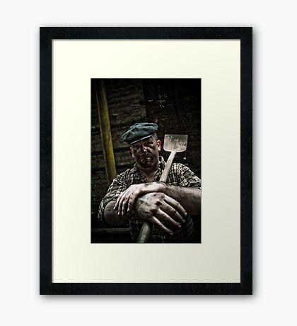 Hard Working Man Framed Print