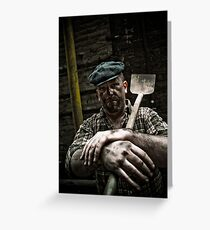 Hard Working Man Greeting Card