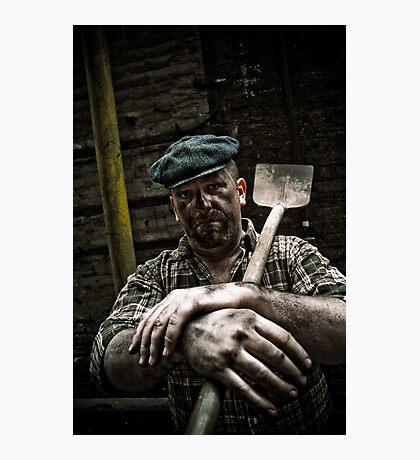 Hard Working Man Photographic Print