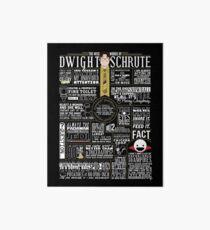 Lámina rígida Las sabias palabras de Dwight Schrute (camiseta oscura)