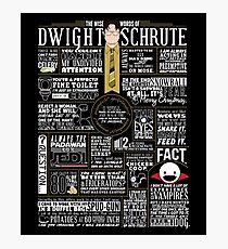 Lámina fotográfica Las sabias palabras de Dwight Schrute (camiseta oscura)