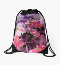 A Passion for Pink and Purple Drawstring Bag