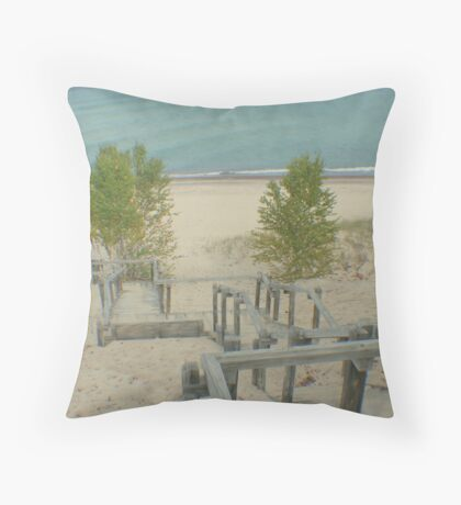 Sand or Sandy Stairs? Throw Pillow